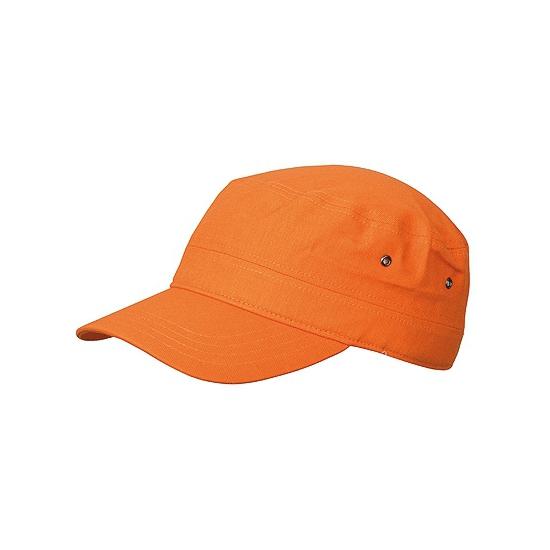 Oranje verstelbare army cap