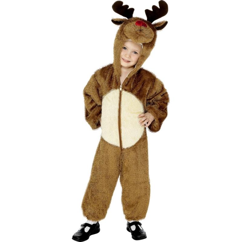 Pluche rendier kostuum voor kinderen. leuk kerst kostuum voor kinderen met capuchon met gewei. de pluche ...
