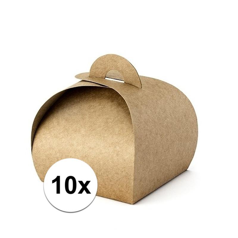 10 bruine kraft kado doosjes 8,5 cm. doosje van bruin kraft papier. formaat: ongeveer 8,5 x 8,5 x 7 cm. u ...