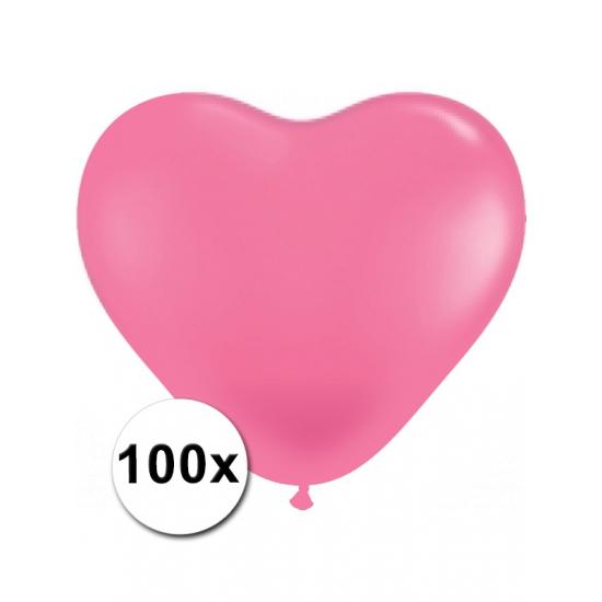 100 stuks Hart ballonnen roze AlleKleurenShirts Beste kwaliteit