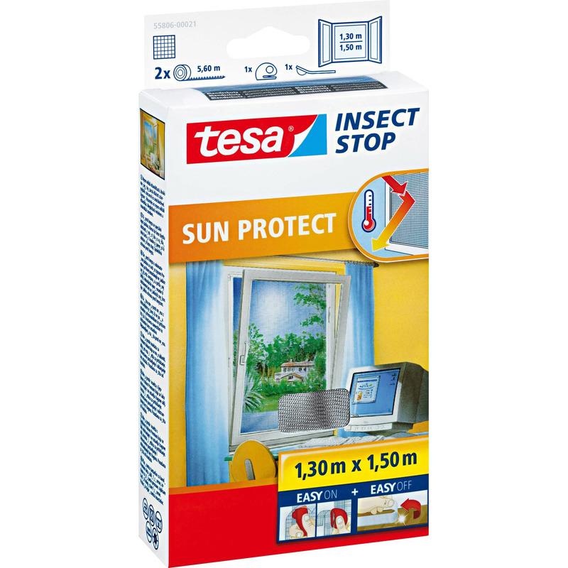 1x Tesa vliegenhor-insectenhor met zonwering zwart 1,3 x 1,5 meter