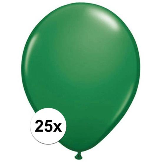 Feestartikelen diversen 25x Groene Qualatex ballonnen