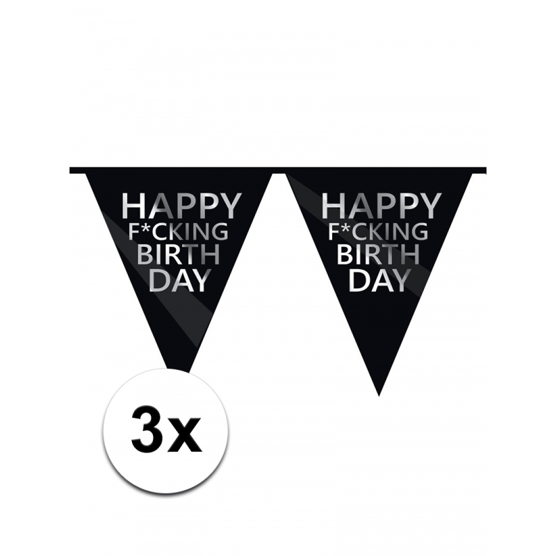Sale tot 13% Korting 3 x Fuck verjaardagsvlaggenlijn
