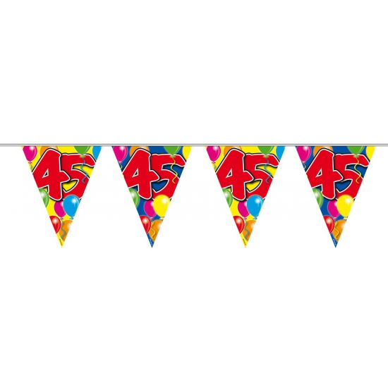Leeftijd feestartikelen Folat 45 verjaardag slingers 10 meter