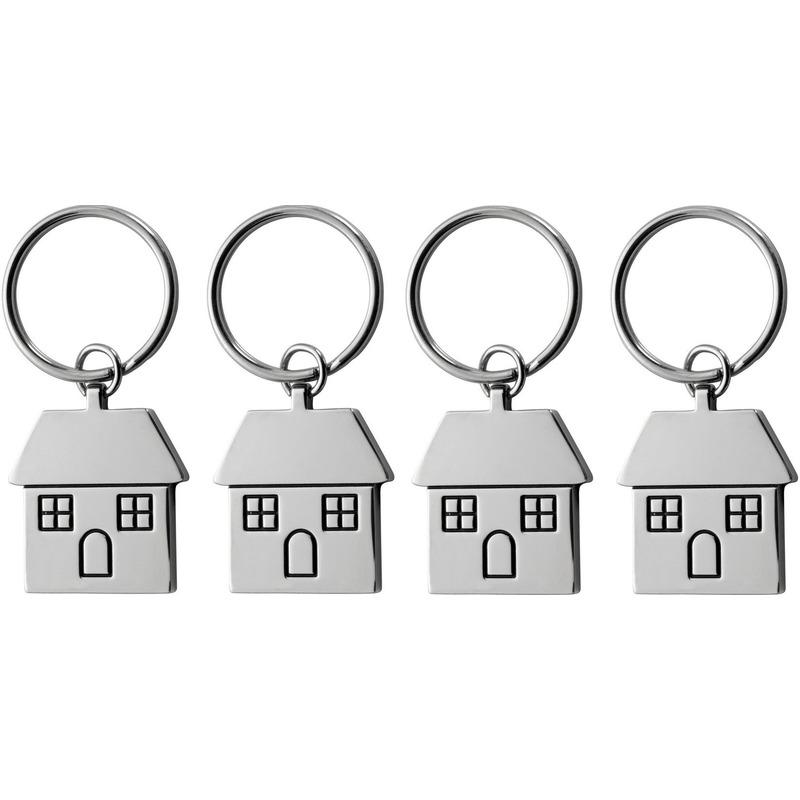 4x Housewarming sleutelhanger 7 cm