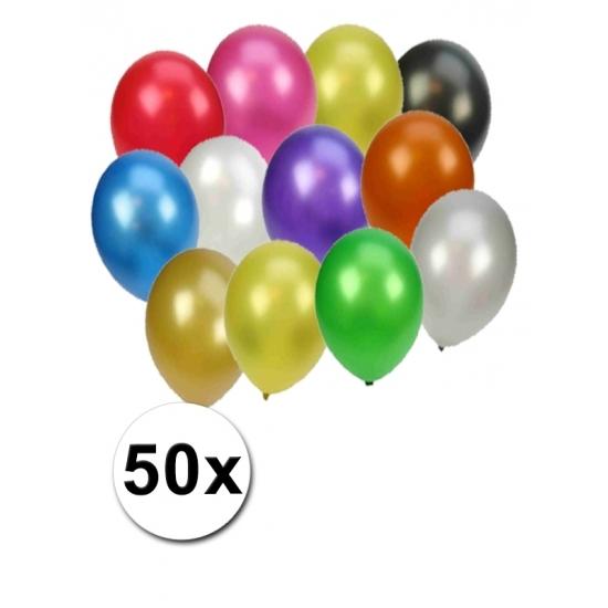 50 gekleurde metallic ballonnen Geen Feestartikelen diversen