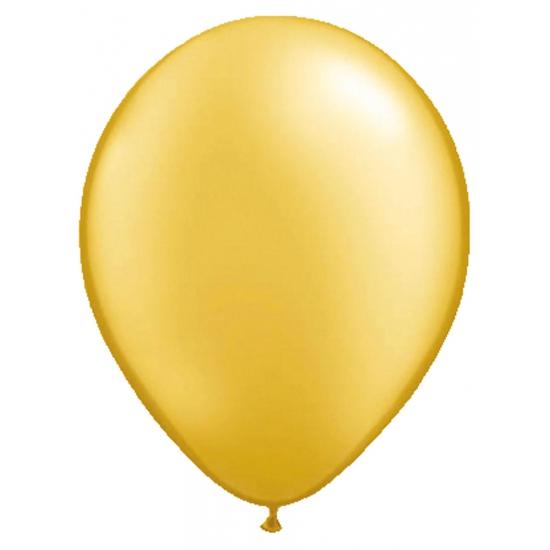 Feestartikelen diversen 50x ballonnen metallic goud