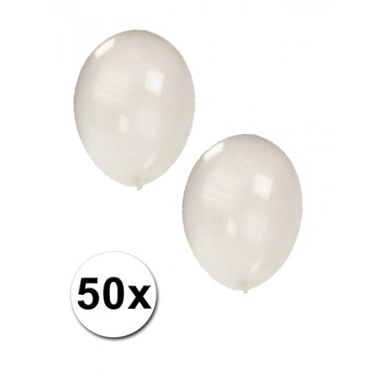 Feestartikelen diversen 50x Transparante ballonnen