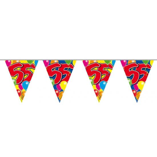 Folat 55 verjaardag slingers 10 meter Leeftijd feestartikelen