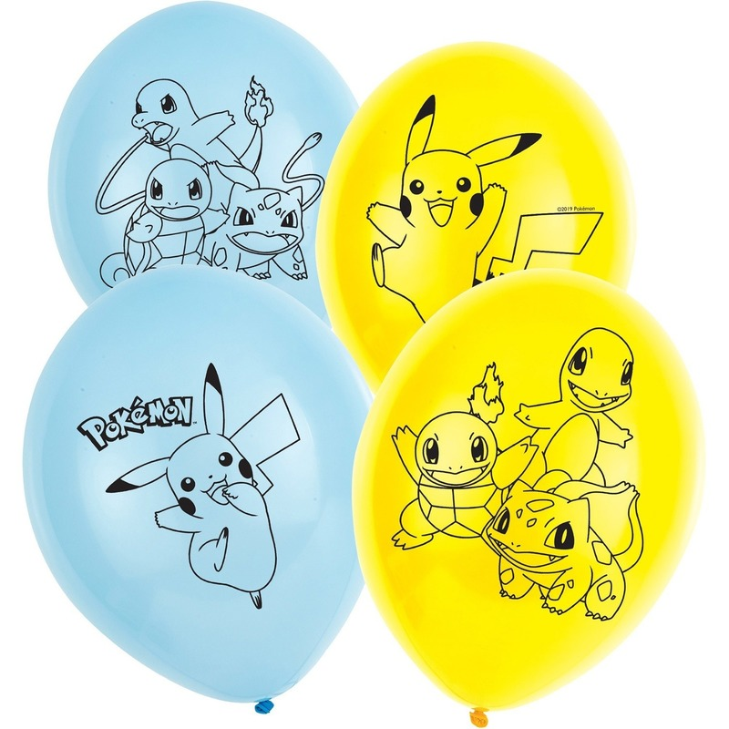 6x stuks Pokemon thema party ballonnen