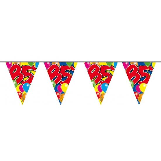 Leeftijd feestartikelen Folat 85 verjaardag slingers 10 meter 10 meter