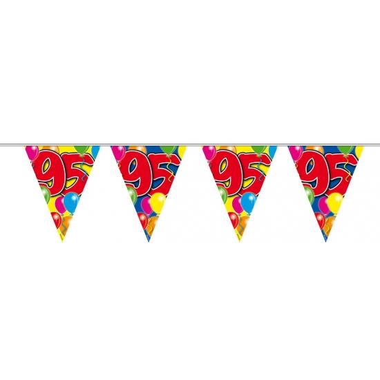 Leeftijd feestartikelen 95 verjaardag slingers 10 meter