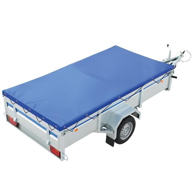 Aanhangwagen afdekzeil blauw 258 x 135 cm