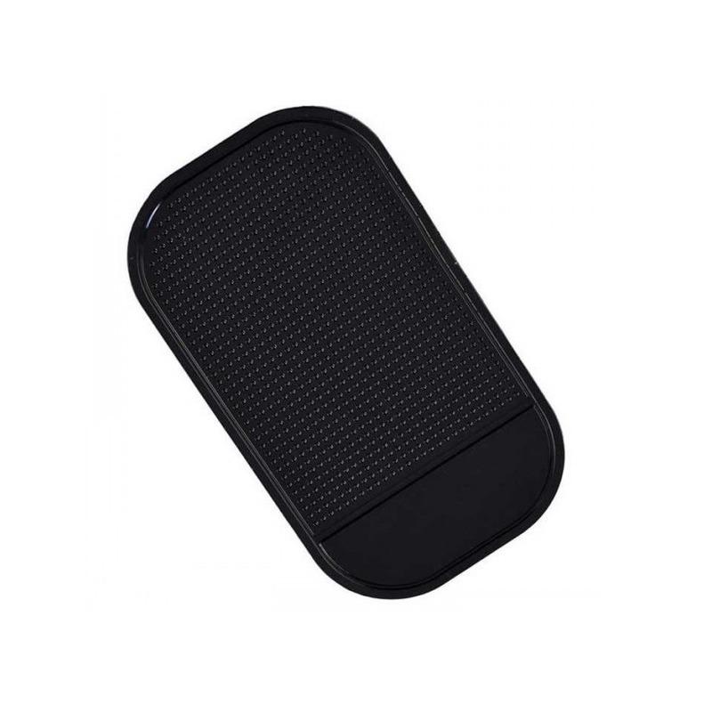 Anti-slip pad-matje voor in de auto zwart 14 cm