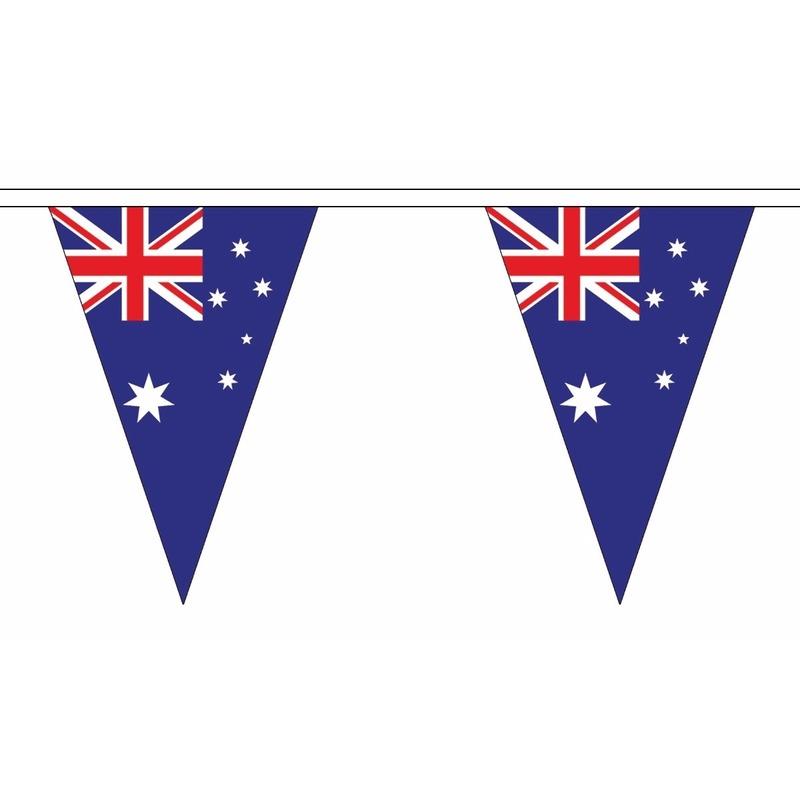 AlleKleurenShirts Australie slinger met puntvlaggetjes 5 meter Landen versiering en vlaggen