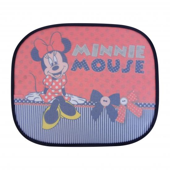 Autoraam schermen Minnie Mouse rood