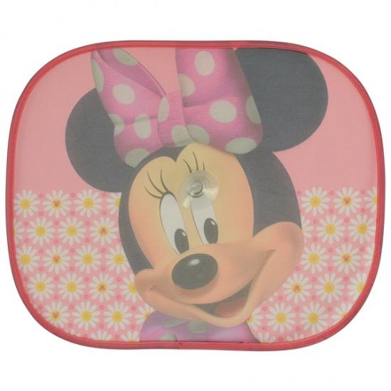 Autoraam schermen Minnie Mouse roze