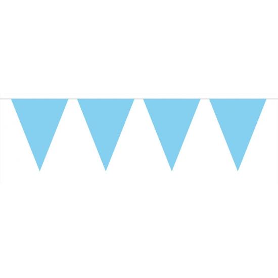 Kleuren versiering Baby blauwe vlaggenlijn groot 10 meter