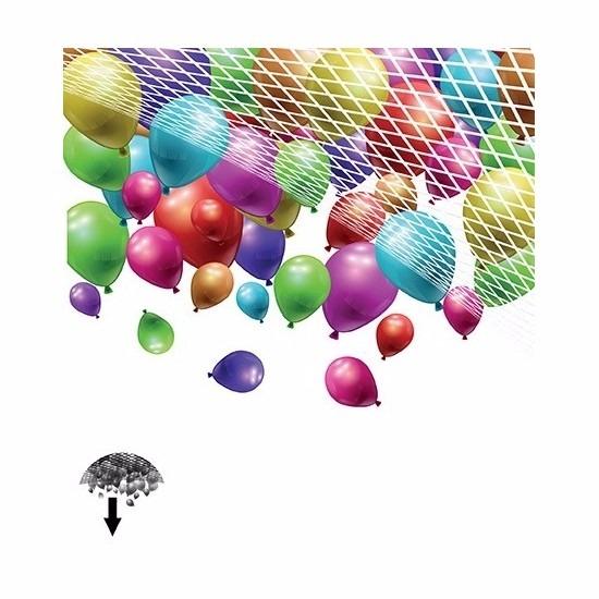 Feestartikelen diversen Ballonnen vangnet voor 200 stuks