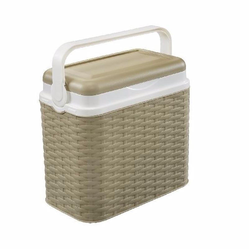 Beige rotan koelboxen 10 liter Geen Outdoor Vakantie