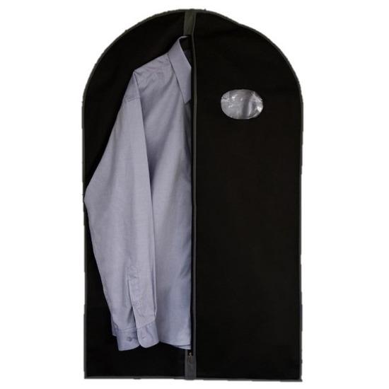 Beschermhoes voor kleding zwart 100 cm