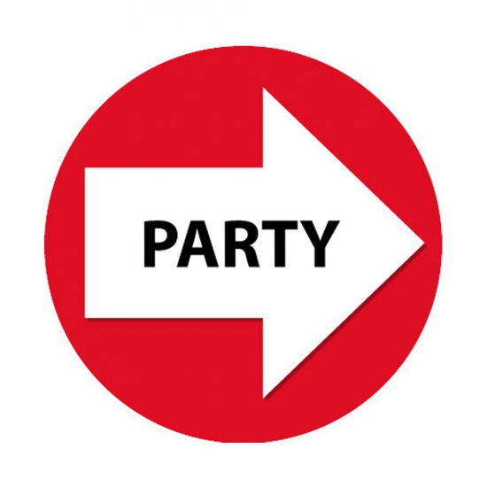 Bewegwijzering stickers rood Party 4 st AlleKleurenShirts Feestartikelen diversen