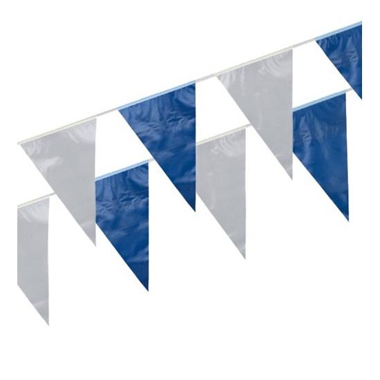 AlleKleurenShirts Blauw en witte vlaggenlijnen Feestartikelen diversen