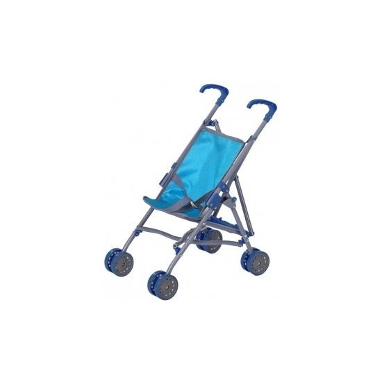 Blauwe buggy voor poppen