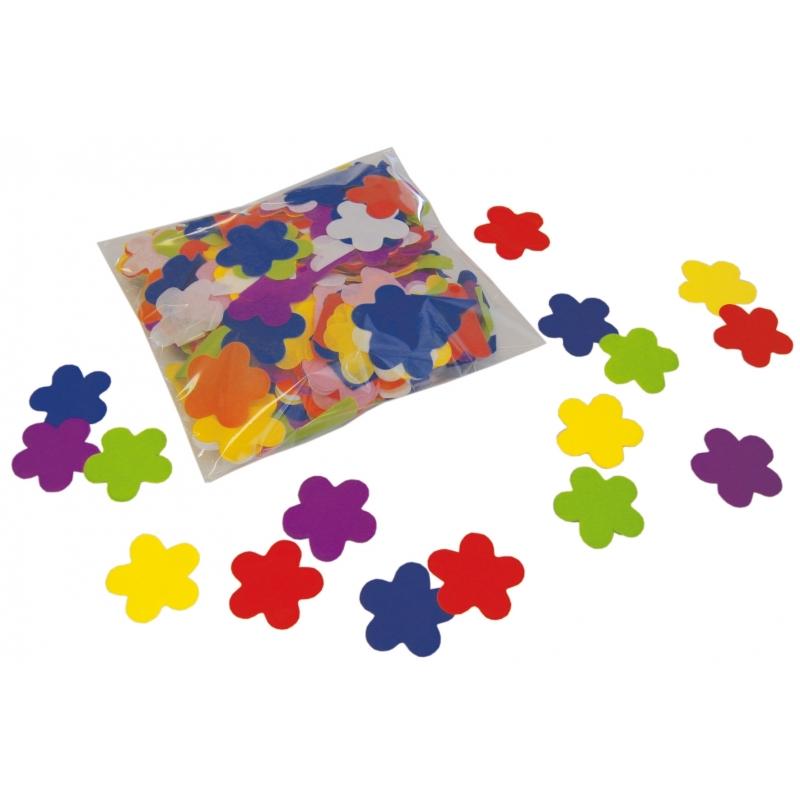 Feestartikelen diversen Bloem confetti gekleurd 250 gram