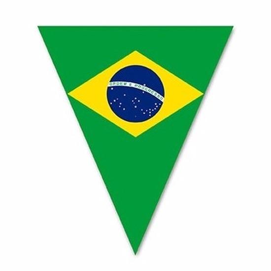 Landen versiering en vlaggen Braziliaanse decoratie vlaggenlijn 5 m