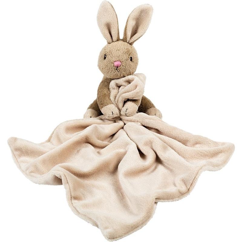 Bruine konijnen-hazen knuffeldoekjes knuffels 30 cm knuffeldieren