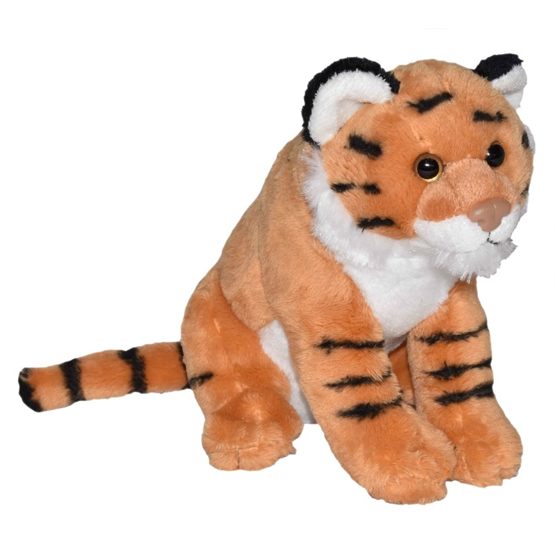 Bruine tijgers knuffels met geluid 20 cm knuffeldieren