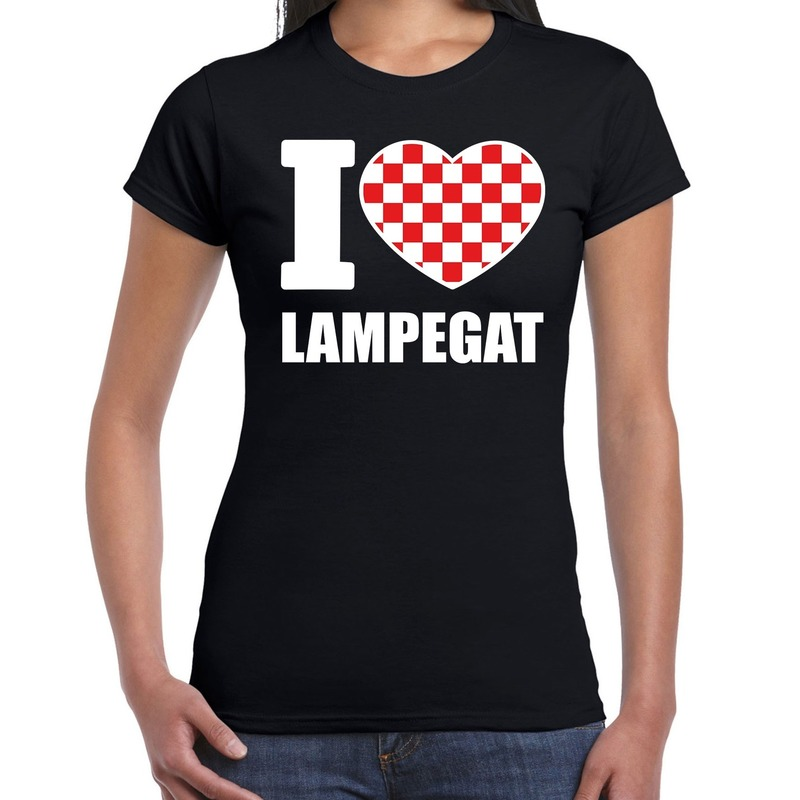 Carnaval I love Lampegat-Eindhoven t-shirt zwart voor dames