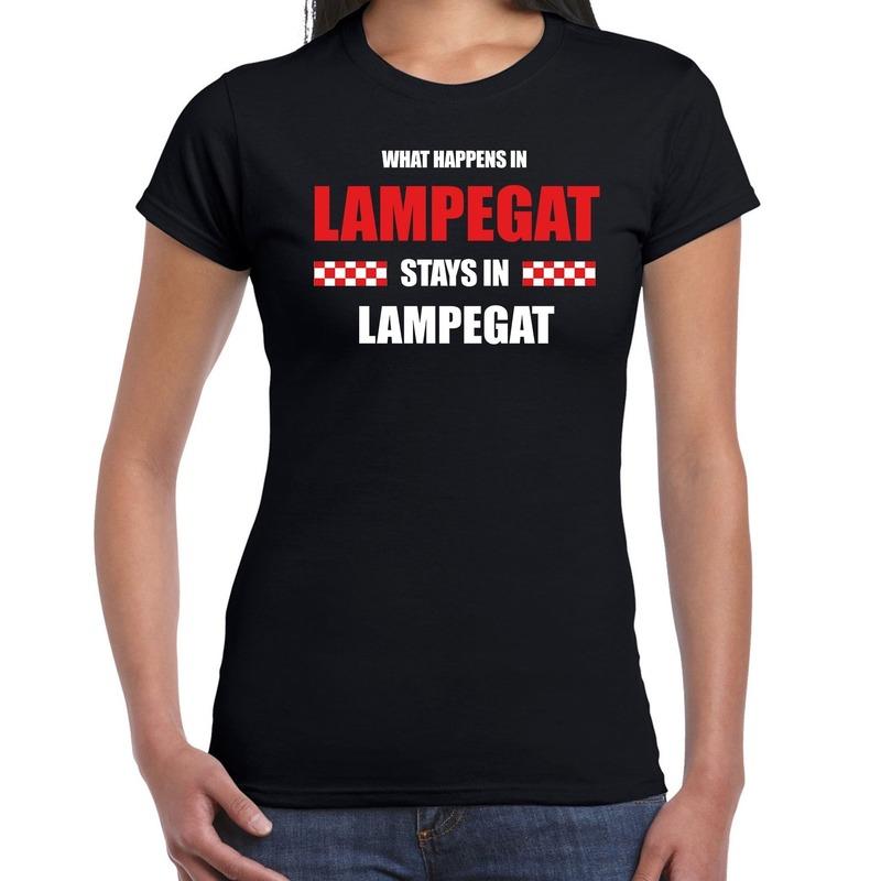 Carnaval verkleed shirt Lampegat-Brabant-Eindhoven zwart voor dames