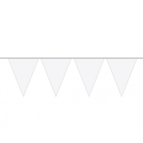 Feestartikelen diversen Geen Carnaval vlaggenlijn wit 10 meter