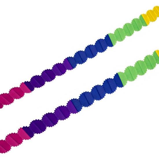 Feestartikelen diversen Geen Crepepapier slingers gekleurd 6 meter