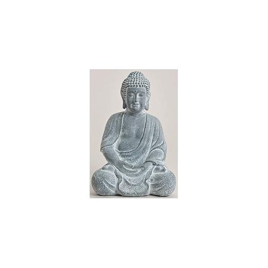 Woonaccessoires Decoratie Boeddha beeld blauw grijs 30 cm
