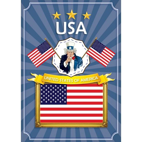 Landen versiering en vlaggen Shoppartners Deur poster thema USA