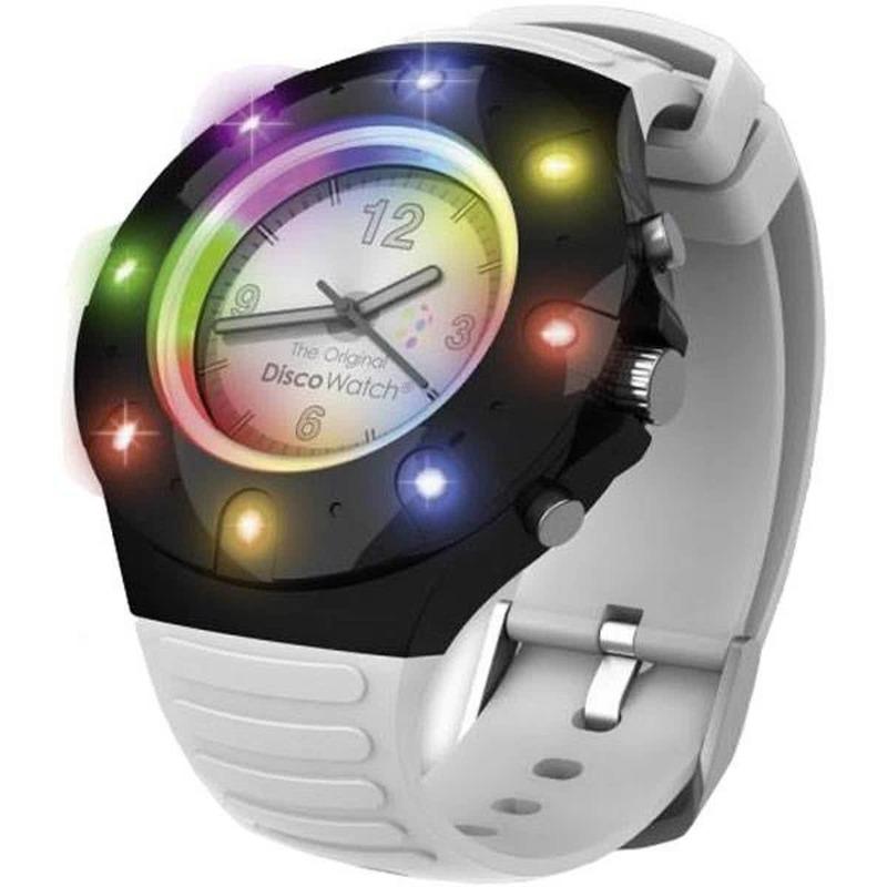 f43a7e2760d Disco horloge voor kinderen of volwassenen met een wit bandje(verstelbaar).  het horloge