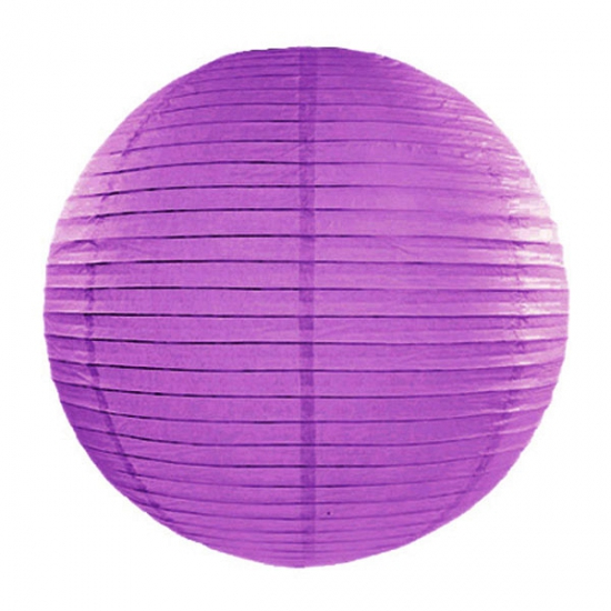 Feestartikelen diversen AlleKleurenShirts Donker paarse lampion rond 35 cm