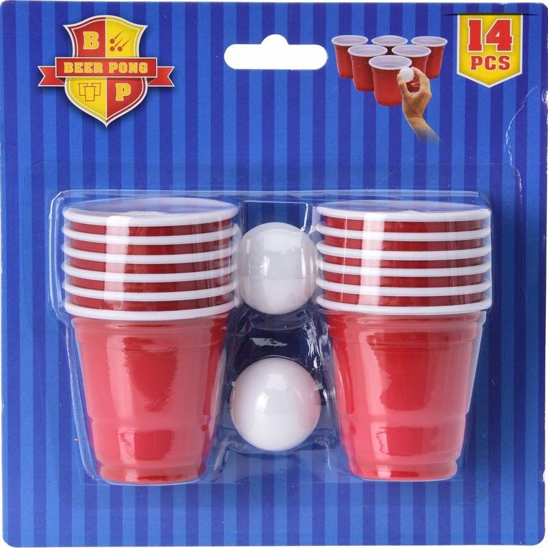 Drinkspel Beer Pong 14 delig