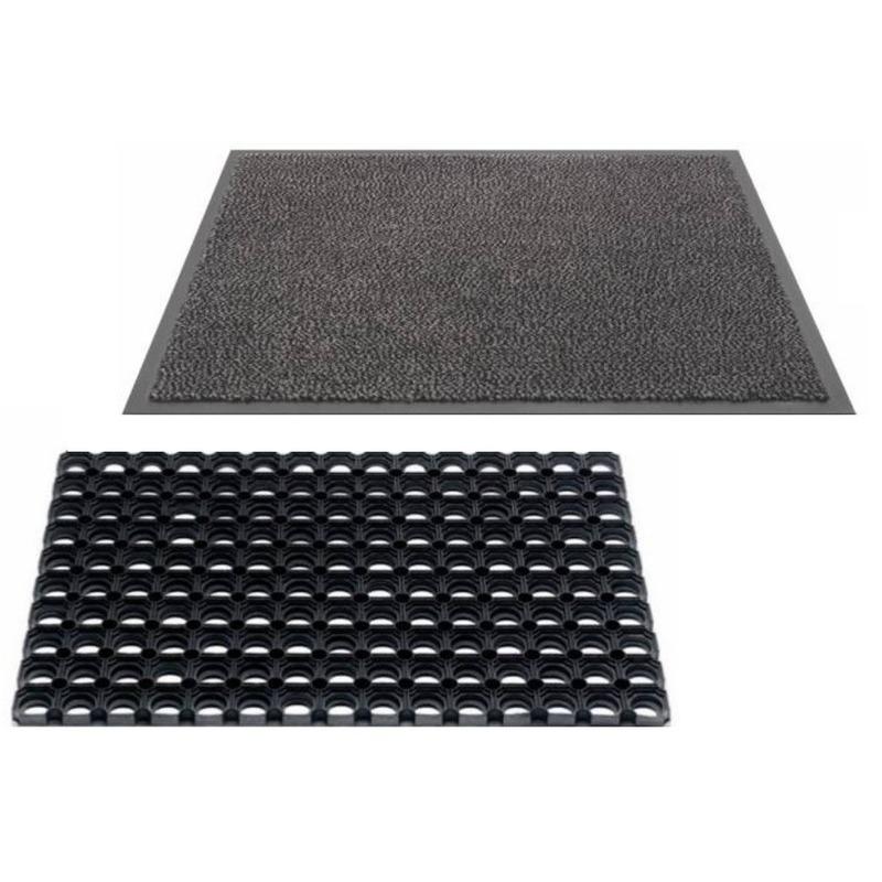 Droogloopmat en buitenmat rubber 60 x 40 cm