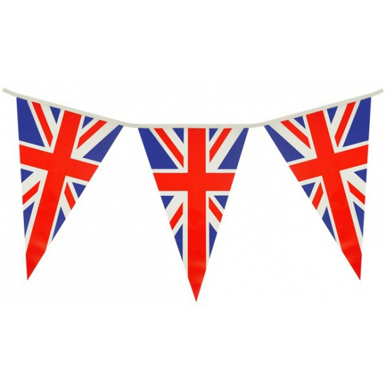 Landen versiering en vlaggen AlleKleurenShirts Engeland vlaggetjes 7 meter