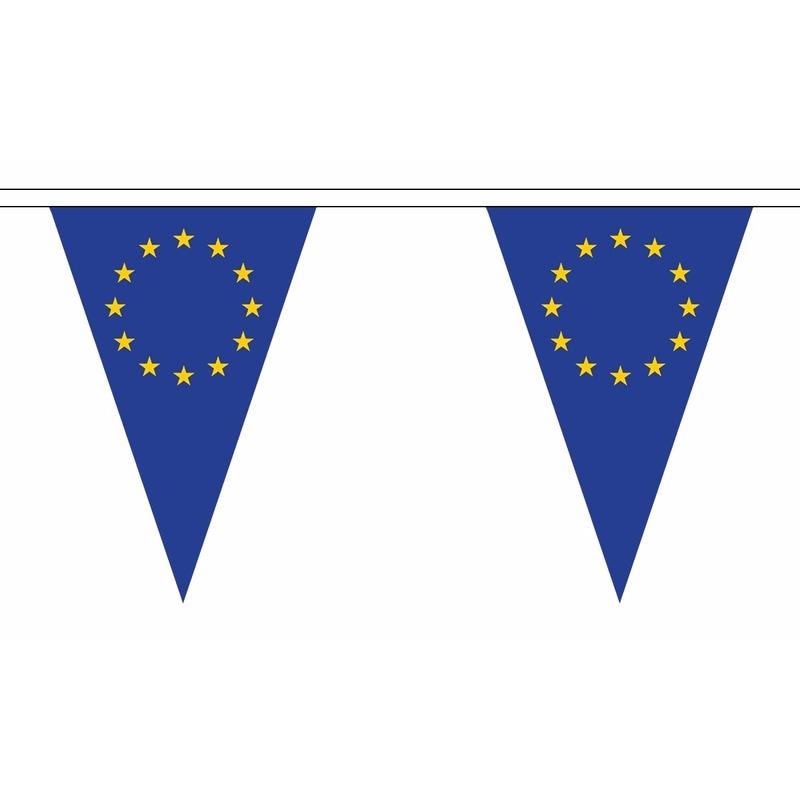 Europa slinger met puntvlaggetjes 5 meter AlleKleurenShirts nieuw