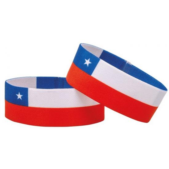 Landen versiering en vlaggen AlleKleurenShirts Fan armband Chili