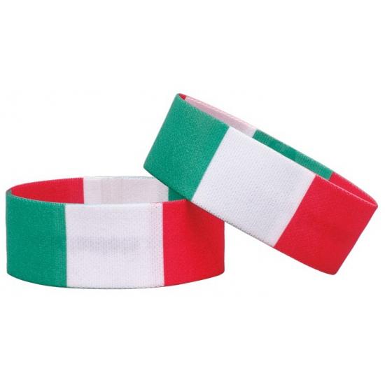 AlleKleurenShirts Fan armband Italie Landen versiering en vlaggen