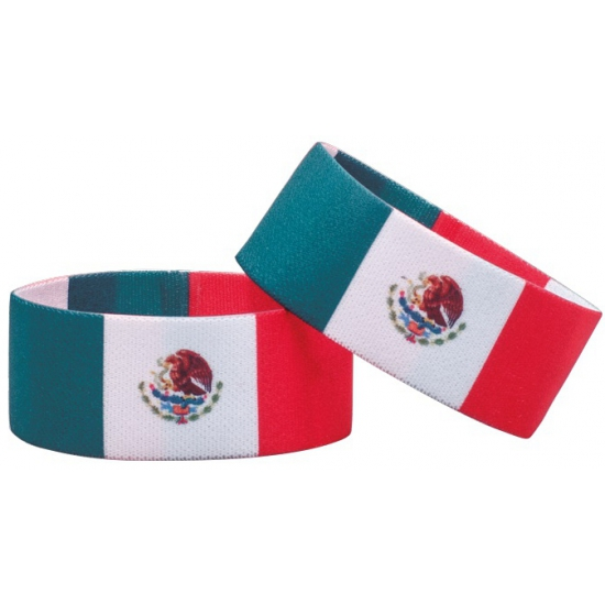 Fan armband Mexico AlleKleurenShirts Landen versiering en vlaggen
