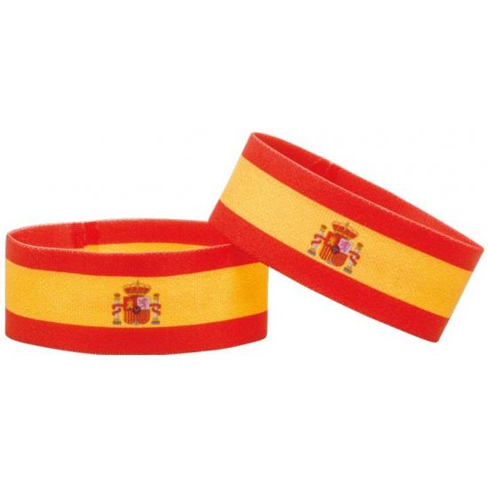 Landen versiering en vlaggen Fan armband Spanje