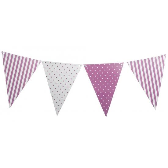 Feestelijke lila paarse versiering slingers AlleKleurenShirts nieuw