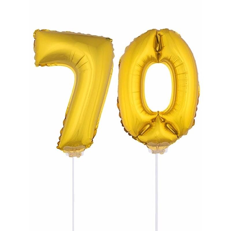 Folie ballonnen cijfer 70 goud 41 cm AlleKleurenShirts Beste koop